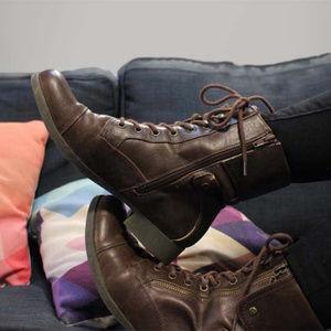 Women's G by Guess WALKER Combat Zip Boots 10M